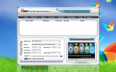Image de Apex Free 3GP Video Converter