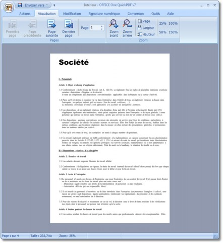 Image de OFFICE One QuickPDF