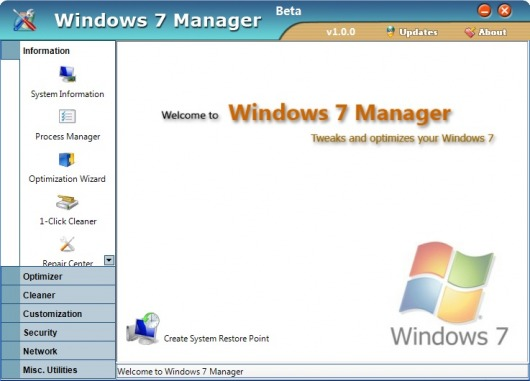 Image de Windows 7 Manager